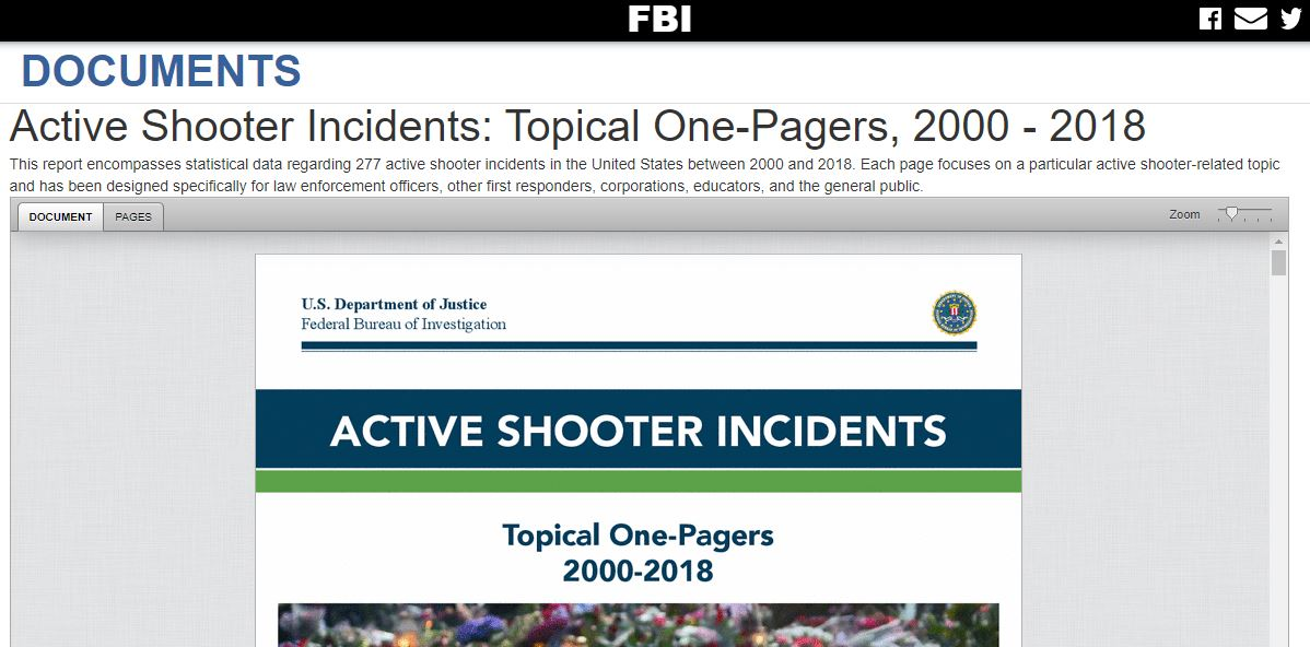 Active Shooter Incident Topical One Pager