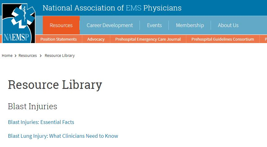 National Association Of EMS Physicians Resource Library